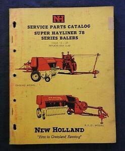 1961-NEW-HOLLAND-034-MODEL-SUPER-HAYLINER-78-BALER-034-PARTS-CATALOG-MANUAL