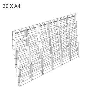 30 x a4 wall mounted brochure holder display unit lit loc system ebay. Black Bedroom Furniture Sets. Home Design Ideas