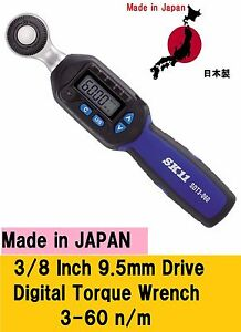 SK11 Digital Torque Wrench Insertion Angle 9.5mm SDT3-060 Japan New 3//8 inch