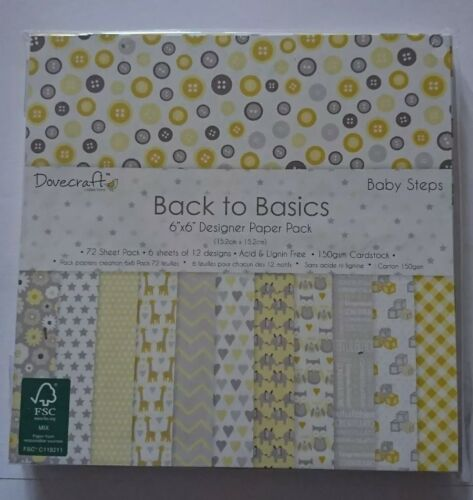 Back to Basics /'Baby Steps/' paper pad 6x6
