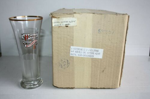 6 Hövels-Bitter Biergläser 0,3 Liter