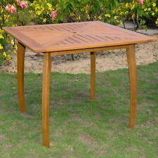 """International Caravan Royal Tahiti Outdoor 36"""" Square Wood Table, Brown"""
