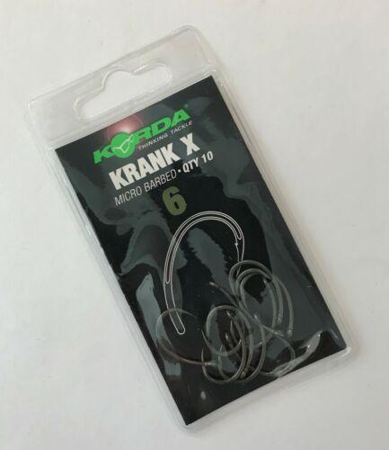 Korda Krank X Micro Barbelé Crochets-Différentes Tailles