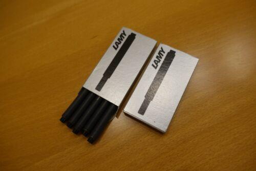 2 Schachteln je 5 Patronen in schwarz LAMY Tintenpatronen  T10