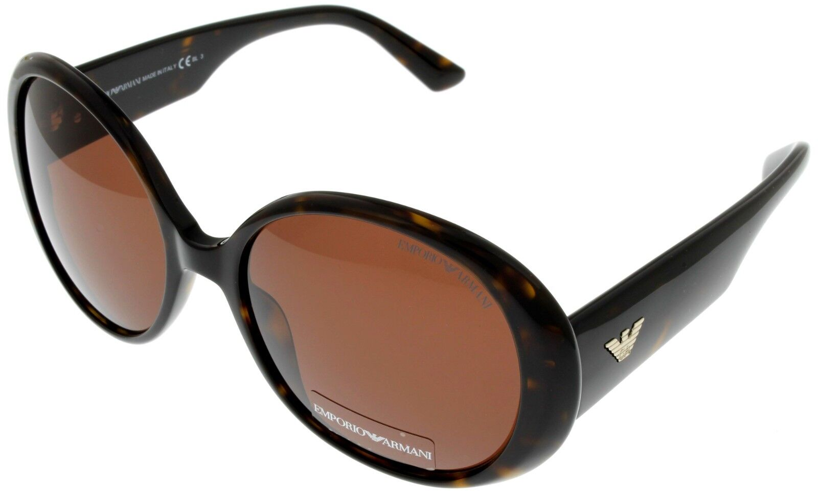Emporio Armani Sunglasses Women Brown Dark Havana Oval EA9607/S 086