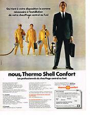 PUBLICITE  1970   THERMO SHELL CONFORT