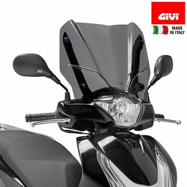 Parabrisas parabrisas D1128S compatible con Honda SH 150 I ABS 2012 2016 humo GIVI