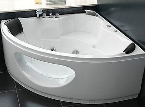 Vasca Da Bagno Angolare Economica : Whirlpool angolare vasca da bagno con vetro luce led acqua a cascata
