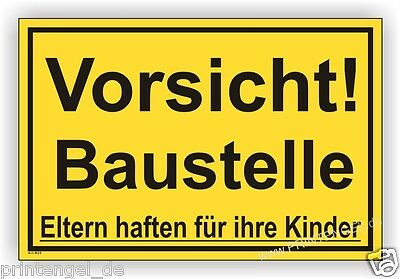Vorsicht Baustelle Eltern...b25 Offizielle Website Schild,baustelle,bauschild,warn Hinweisschild