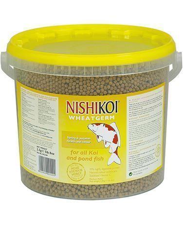 NishiKoi Wheatgerm Pond Pellet Winter Fish Food 2.5Kg Large 6mm