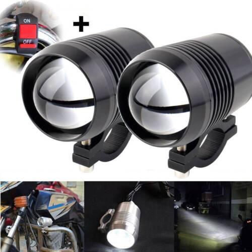 2x Motorcycle U2 30W LED Driving Headlights Fog Spot Light for BMW + Switch UK