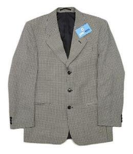 Burton Homme géométrique gris veste de tailleur 38 tour de poitrine (Regular)