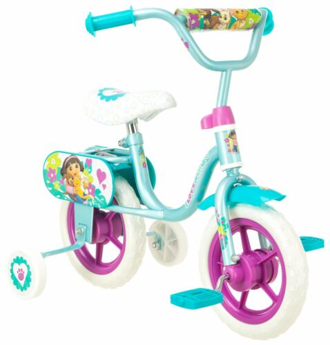 10-034-Dora-Sidewalk-Bike-With-Training-Wheels-Light-Blue