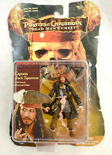 "Pirates of the Caribbean Dead Man's Chest Captain Jack Sparrow 3.75"" Figure 2006"