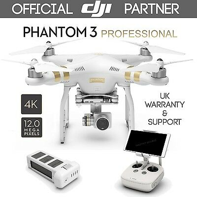 DJI Phantom 3 Professional Gold Quadcopter Drone With UHD 4K 12MP Camera