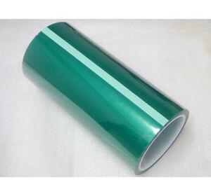 0-08mm-200mm-33m-PET-Green-Tape-Hi-Temp-Resistant-PCB-Electroplate-Mask-Shield