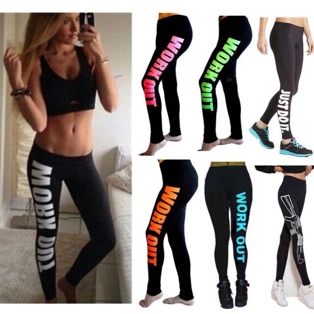 Women Capri YOGA Running Sport Pants Waist Cropped Leggings Fitness Trouser