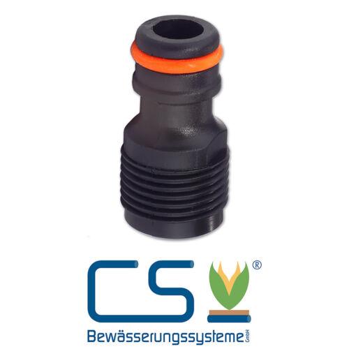 Wasserhahnanschluss-Adapter Außengewinde 1//2/'/' für Perlschläuche Gartenschläuche