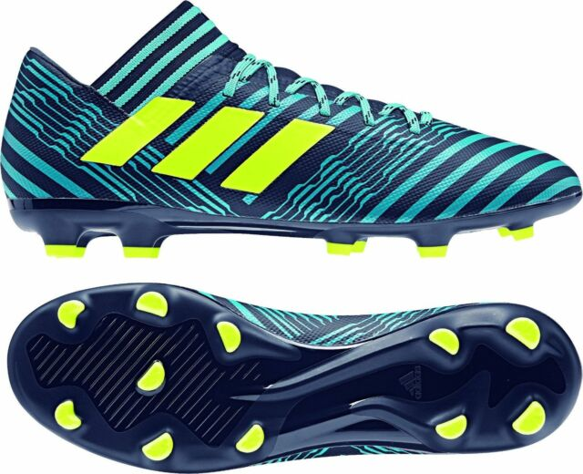503307b92726 NIB ADIDAS S80601 MEN NEMEZIZ 17.3 FG FIRM GROUND SOCCER SHOES ENERGY BLUE