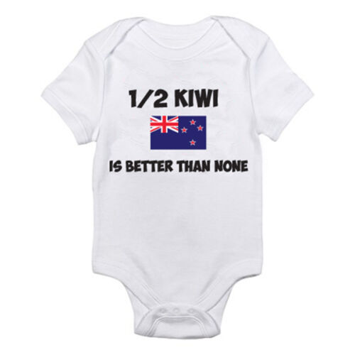 Maori Novelty Themed Baby Grow 1//2 KIWI IS BETTER THAN NONE New Zealand