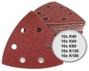 50x-Delta-Dreieck-Schleifpapier-Set-A97-fuer-EINHELL-Multifunktionswerkzeug-93mm