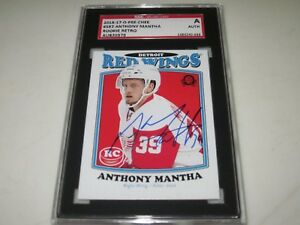 ANTHONY-MANTHA-AUTOGRAPHED-2016-17-O-PEE-CHEE-RETRO-ROOKIE-CARD-SGC-SLAB