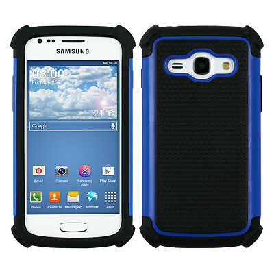 HYBRID CASE FOR SAMSUNG GALAXY ACE 3 S7270 / S7275 BLUE TPU OUTDOOR HARD SHELL