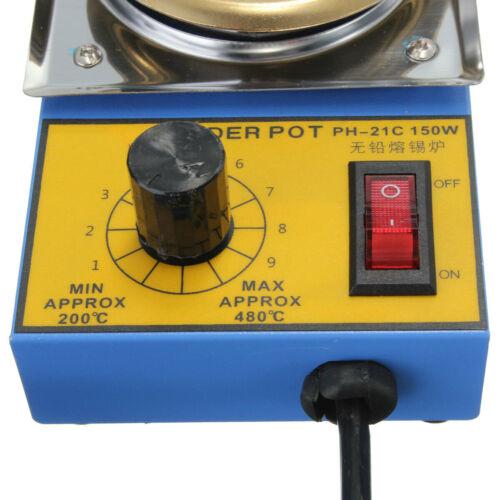Ø 50mm Elektrischer Schmelzofen Zinngießen Bleigießen Schmelztiegel 220V 150W DE