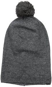 cfd6c93406751 Image is loading NWT-True-Religion-Slouchy-Beanie-With-Pom-Charcoal-