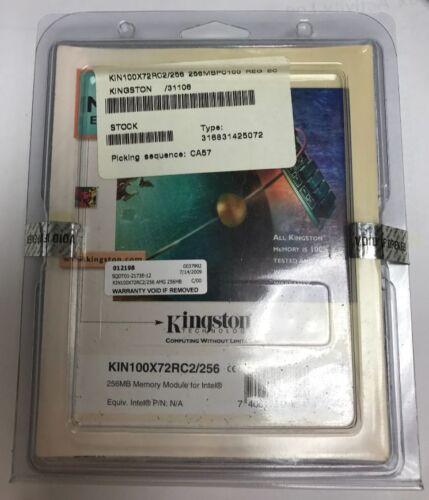 256MB 168-pin PC100 ECC Registered DIMM Kingston KVR100X72RC2//256 33L3115
