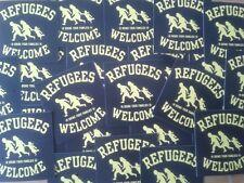 50 Refugees welcome Aufkleber stickers Punk Antinazi AFA Gegen Nazis Antifa 161