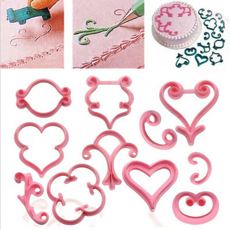 Fashion Decorating Mould Pink Cake Mold Baking Supplies Home Plastic 2