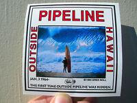 Vintage Greg Noll Pipeline Sticker Surfboard Surfing Longboard Surfer Surf 1964