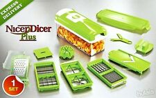 FRUIT CUTTER NICER DICER PLUS MULTI CHOPPER VEGETABLE AND SLICER GENIUS fdevbg