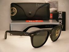 Ray Ban 2140 Wayfarer Black w Green Crystal (G-15) Lens (RB2140 901 54mm)