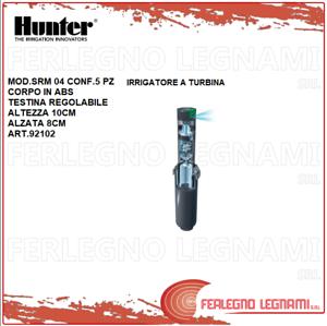 IRRIGATORE A TURBINA ALZATA 8CM CONF. 5PZ MOD. SRM 04 HUNTER ART. 92102