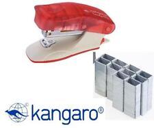 KANGARO MINI C-THRU RED STAPLER WITH STAPLE REMOVER HOOK+1000 STAPLES-TRENDY-10M