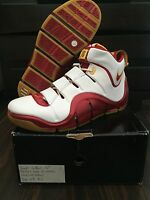 Nike Zoom Lebron IV 4 FAIRFAX HOME PROMO SAMPLE PE WHITE RED YELLOW GAME WORN QS