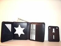 Kalkaska Co Michigan Sheriff's Badge Id Wallet Ct-09 Blackinton B-956