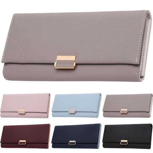 Womens Leather Long Wallet Credit Card Clutch Holder Handbag Envelope Purse Bags