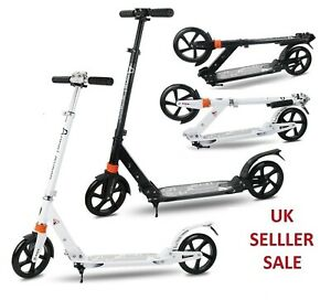 Folding-Scooter-Bike-Big-Wheel-Scooter-W-Suspension-Adult-Commuter-With-Grips-B