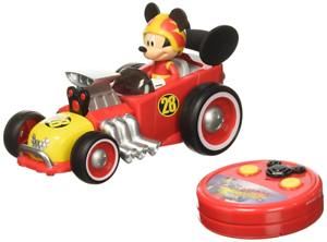 Disney Mickey Mouse Roadster Racer RC Vehicle, Remote Control Racing Kids Car