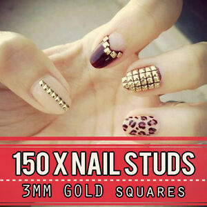 Gold-Metal-Nail-Studs-3d-Nail-Art-Decorations-3mm-Squre-Studded-Manicure-Punk