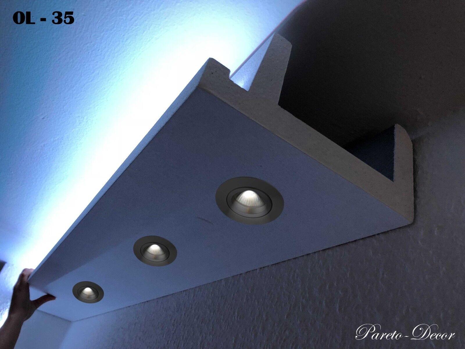 6 Meter LED Licht Bebauung Profil Spot für indirekte Beleuchtung XPS OL-35 Weiß