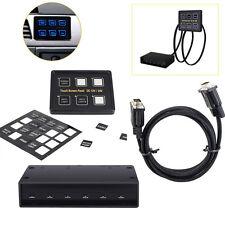 MICTUNING 12V/24V 6 Gang LED Switch Panel Slim Touch Control Panel Box Marine