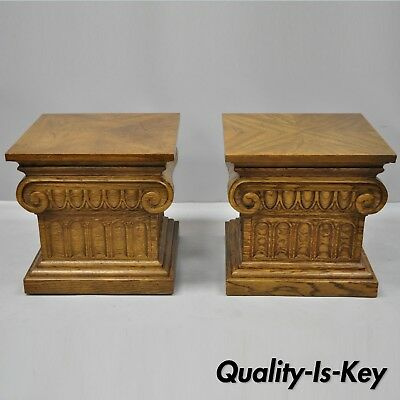 Drexel Furniture Guildhall Pair Of Corinthian Column Low Pedestal