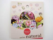 30 Japanese sweets & treats sticker flakes! Dango mochi balls, taiyaki, & more