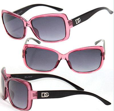 DG Women Bug Style Square Fashion Sunglasses - Transparent Burgundy Frame DG131