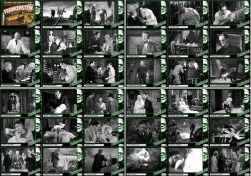 Frankenstein 1931 movie storyboard trading cards.Horror Boris Karloff