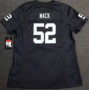 6121aa82810 OAKLAND RAIDERS KHALIL MACK WOMENS NIKE JERSEY #52 AUTHENTIC NFL LAS ...